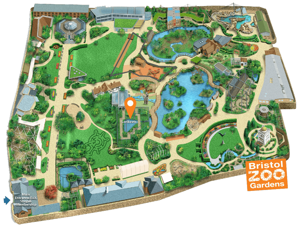 Bristol Zoo Gardens Map